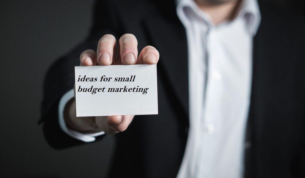 small budget marketing