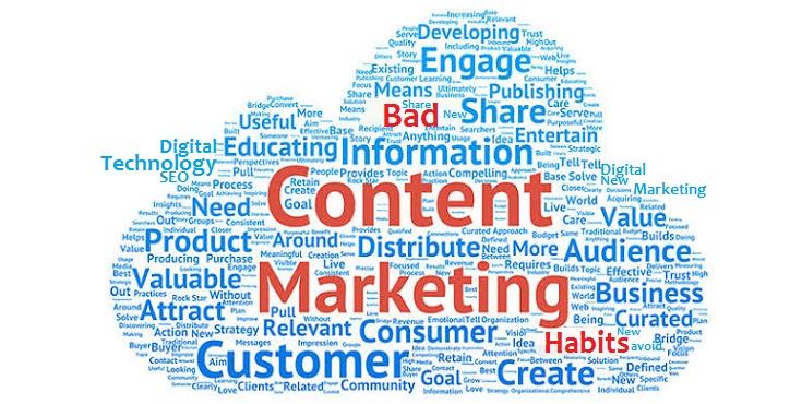 bad digital content marketing habits