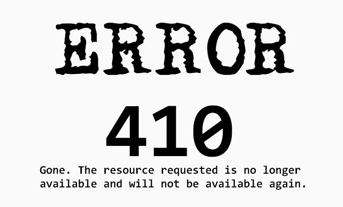 410 Error