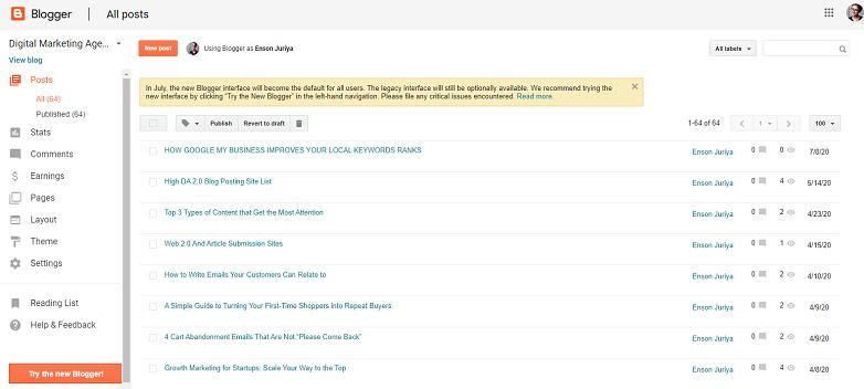 Top 10 blogging sites