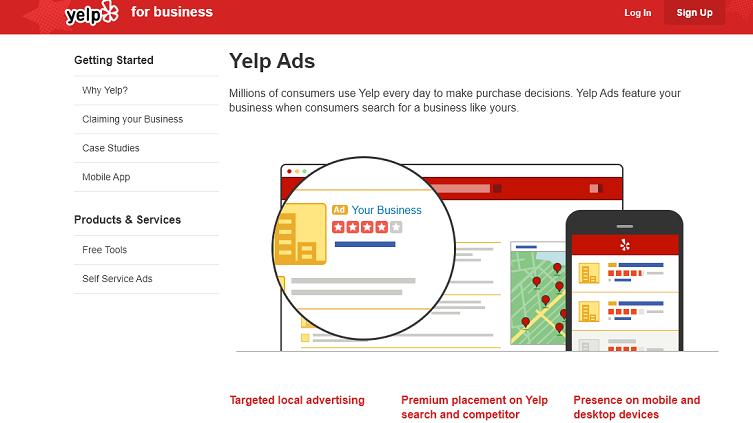Yelp ads